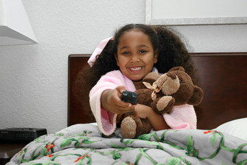 Adorable five year old African American Girl