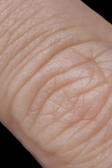 Human Finger of a mature woman