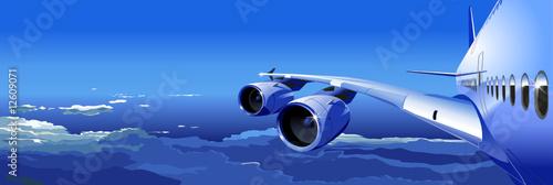 Fotobehang Extreme Sporten Vector airliner in the sky