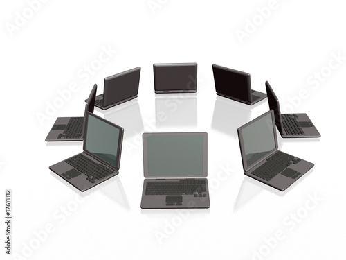 Grey laptops