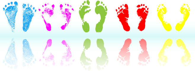 colored foot print