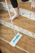 Woman Mopping Stairs