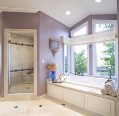 Bathroom with Purple Walls