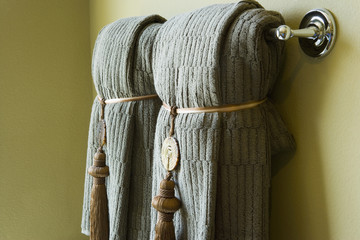 Towels on Rack