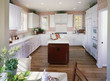 Kitchen with Bright White Cabinets
