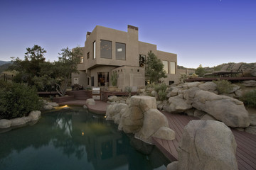 Contemporary House in Desert Landscape