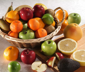 Various Fresh Fruits in Basket