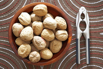 Bowl of Walnuts and Nutcracker