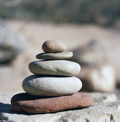 Balanced Stack of River Rocks