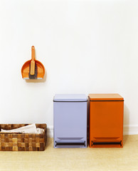 Recycling Containers and Wall-mounted Dust Pan
