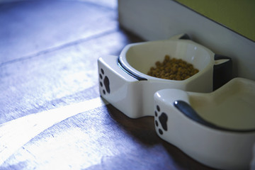 Cat-shaped Food and Water Bowls