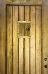 Wooden Speakeasy Door
