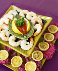 Tiered Plate of Shrimp