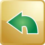 Return navigation icon poster