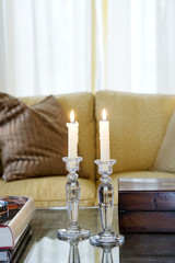 Cut Glass Candlesticks