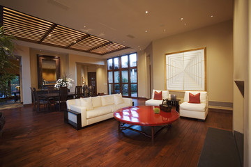 Living Room and Dining Area in Contemporary Home