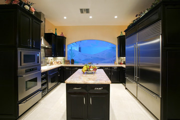 Front view of a modern kitchen
