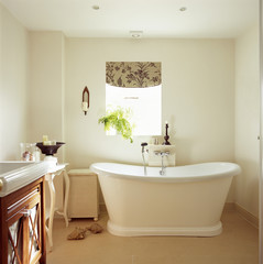 Freestanding Tub in an Elegant Bathroom