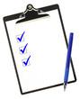 Checklist in Blue
