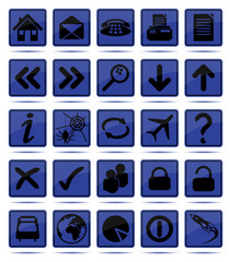 Icon set in Blue