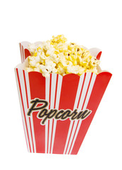 Bag of Popcorn with clipping path