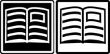 Fototapety Buch - Piktogramm