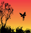 Fairy Sunset Background