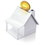 White American House MoneyBox poster