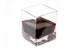 Square glass of port