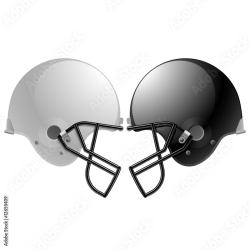 American football helmets. Vector.