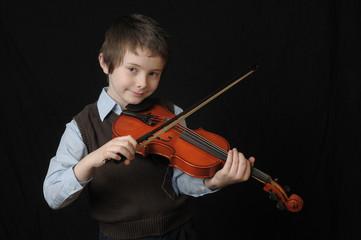 ..Boy Playing a Violin