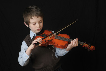 ..Boy Playing a Violin