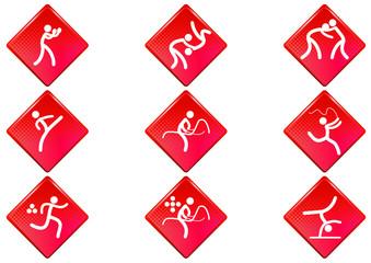 Pictogrammes des jeux olympiques d'été losange rouge(partie 2)
