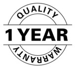 1 Year Quality warranty poster