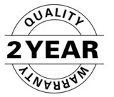 2 Year quality warranty poster