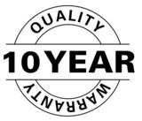 10 Year warranty poster