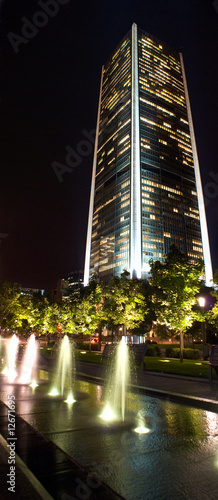 Tower in the night