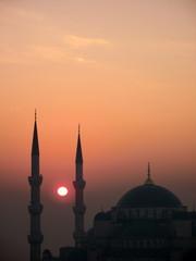 sunrise at mosque