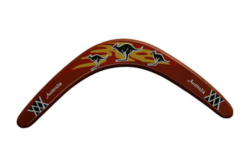 A Decorated Australian Boomerang.