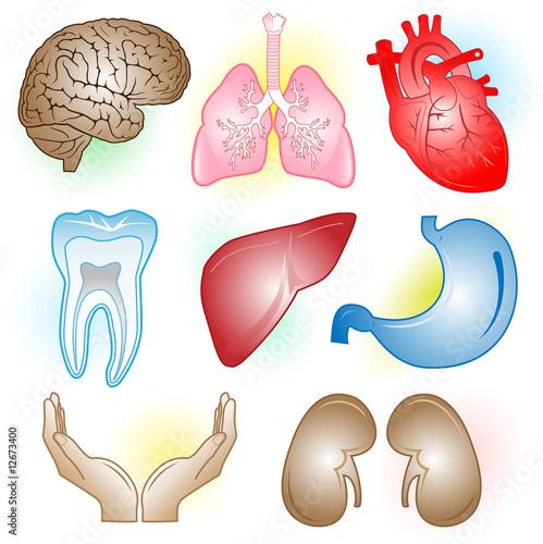 Vector medical icons. Color set. Simply change.