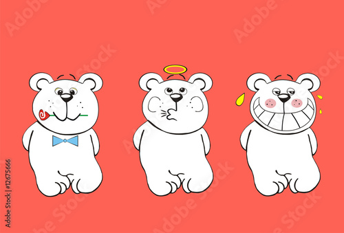 Three funny bears