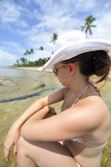Woman enjoying the beach in Brazil
