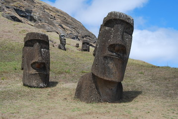 Moai Group on Easter Island