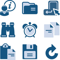 Blue icon set 3