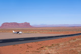 Small plane in local airport near Monument Valley, Arizona poster