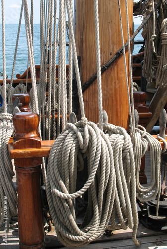 ropes at sea