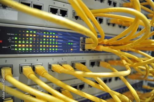 Leinwanddruck Bild netzwerk/server