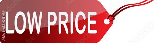 Red Low Price Etiquette