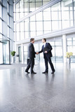 A businessman greeting a client