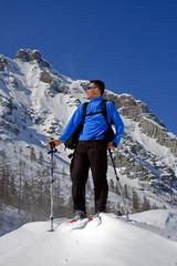 Passeggiata sulla neve